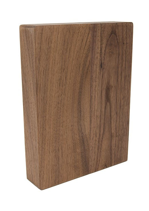 American Walnut Full Stave Worktop Sample 250mm x 150mm x 38mm