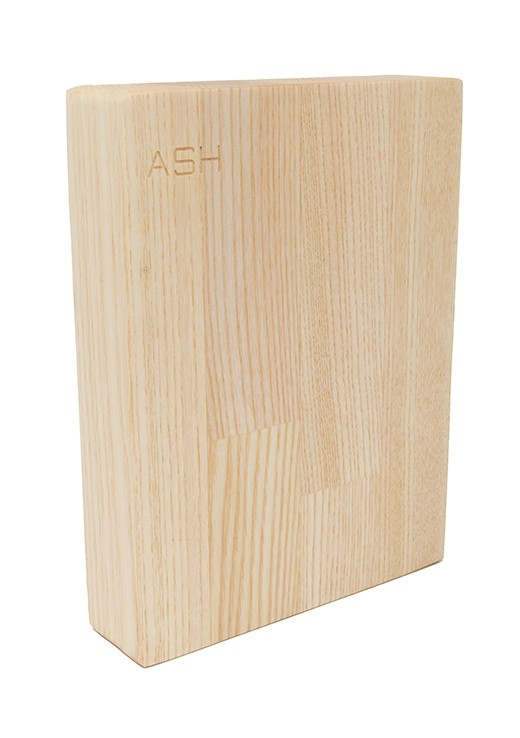 Ash Worktop Sample 250mm x 150mm x 38mm