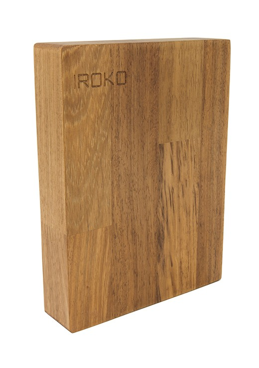 Luxury Iroko Worktop Sample 250mm x 150mm x 48mm