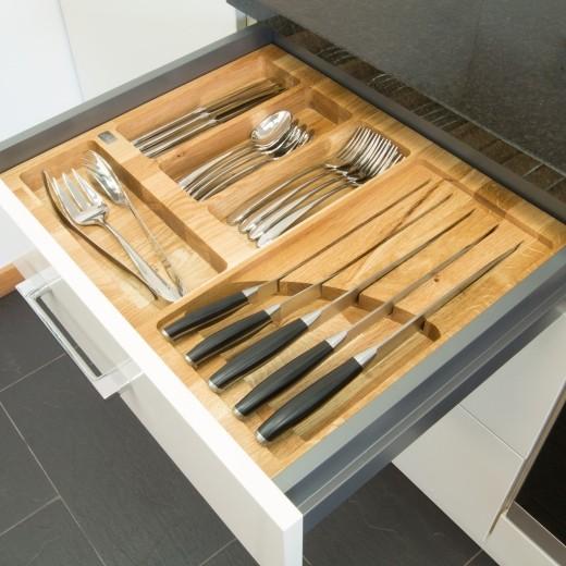 Oak Cutlery Drawer Inserts - Top Worktops
