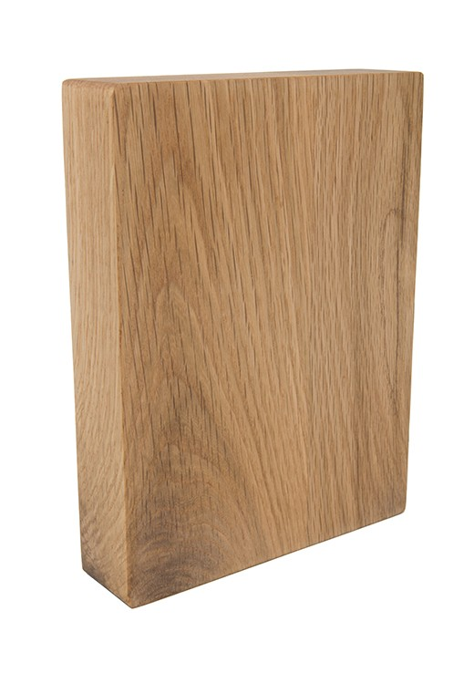 Prime Oak Full Stave Worktop Sample 250mm x 150mm x 38mm