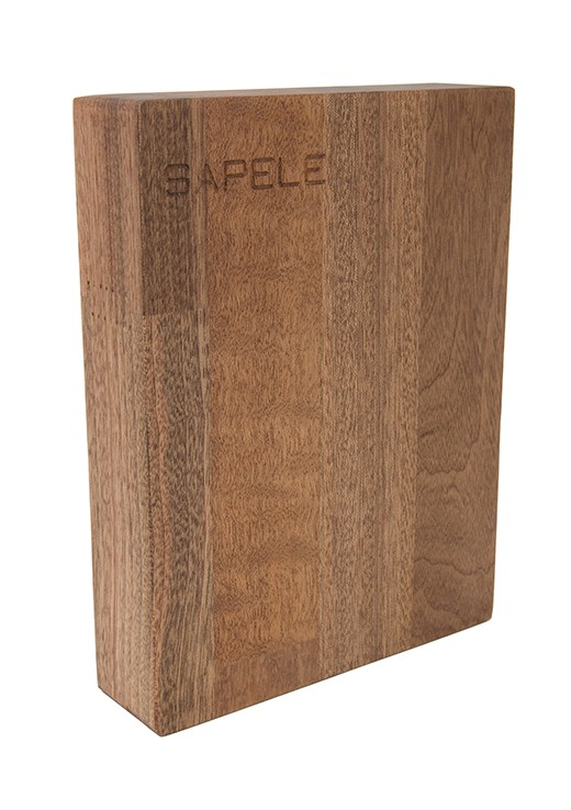 Sapele Worktop Sample 250mm x 150mm x 38mm
