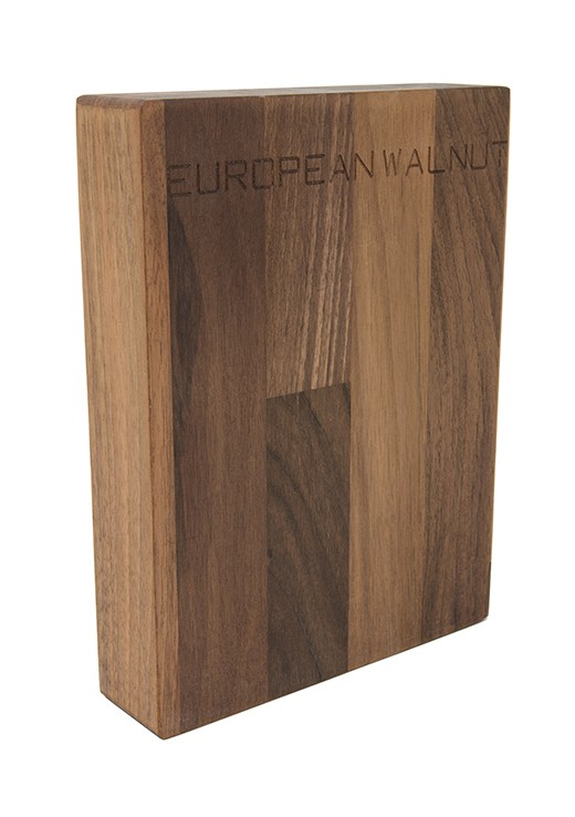 European Walnut Worktop Sample 250mm x 150mm x 38mm