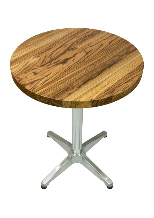 Zebrano Table Top 600mm Round