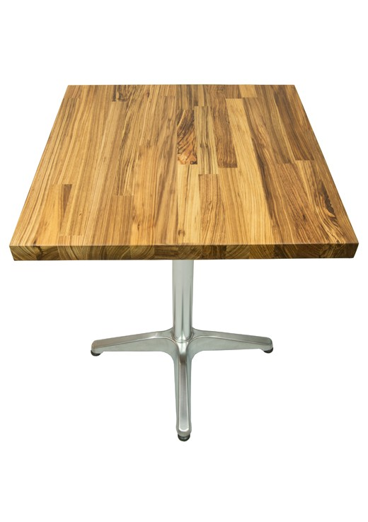 Zebrano Table Top 600mm Square