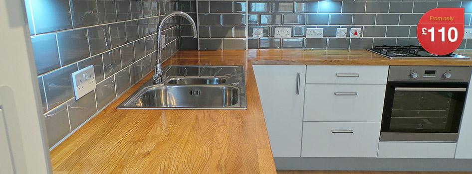 Pre Cut Kitchen Worktops : Solid Wood Worktop London - Top Worktops